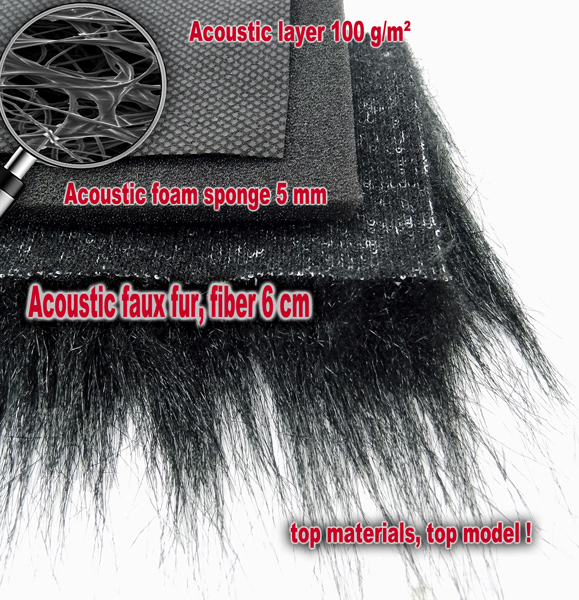 Professional Three Layers Furry Windscreen with Acoustic Foam Technology